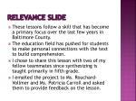 relevance slide