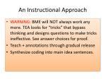 an instructional approach