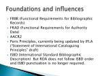 foundations and influences
