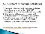 jsc s record structure scenarios