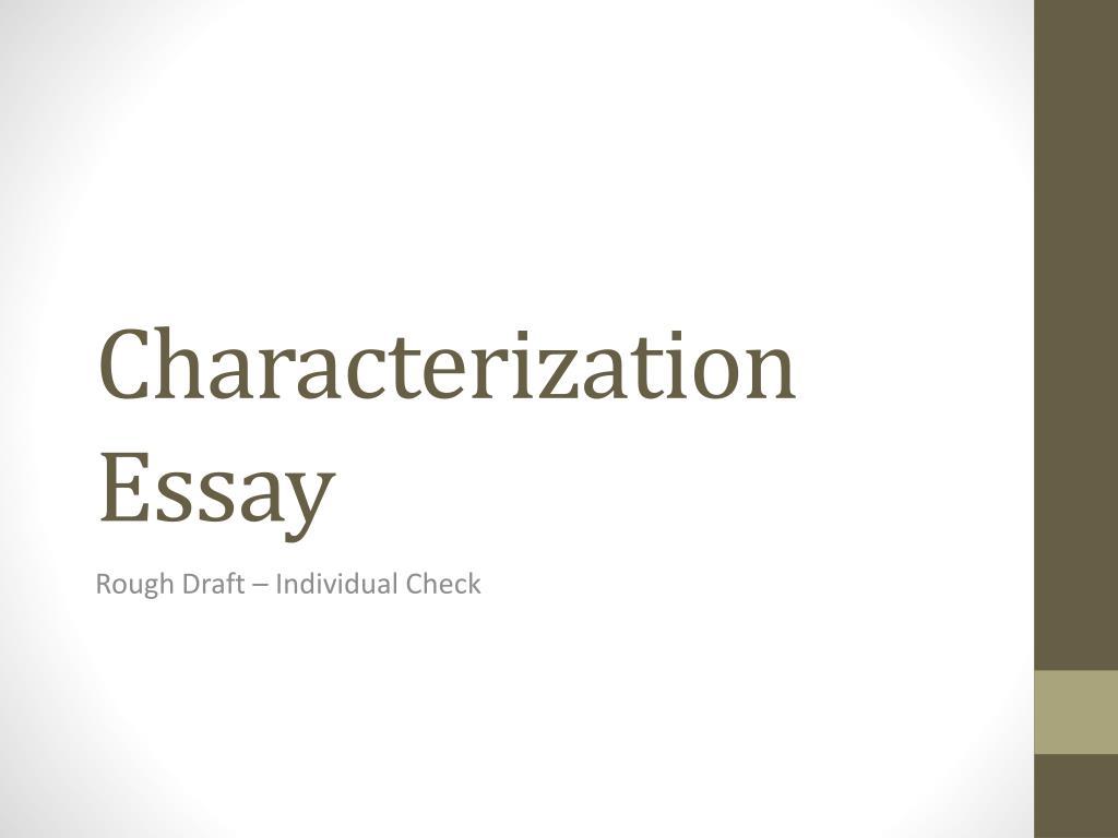 characterization essay