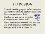 definizioa
