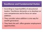 excellence and fundamental duties