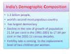 india s demographic c omposition