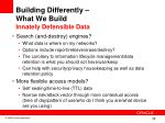building differently what we build innately defensible data