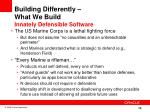 building differently what we build innately defensible software