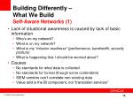 building differently what we build self aware networks 1