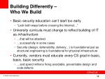 building differently who we build