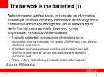 the network is the battlefield 1