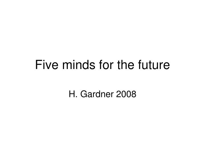 five minds for the future n.