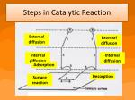 steps in catalytic reaction
