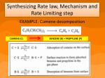synthesizing rate law mechanism and rate limiting step