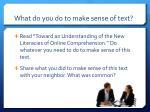 what do you do to make sense of text