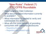 new rules federal ftc cfpb roundtable