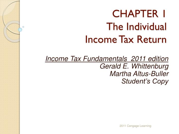 chapter 1 the individual income tax return