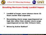 resulting hurricane sandy landfall impact