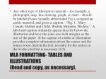 mla formatting tables and illustrations read and copy as necessary1