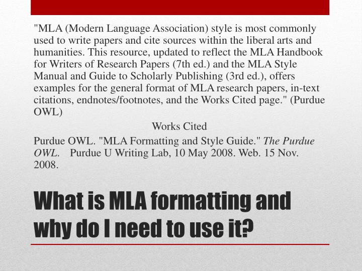 why is mla format used To know when to use ellipsis in mla to be able to format omitted material correctly.