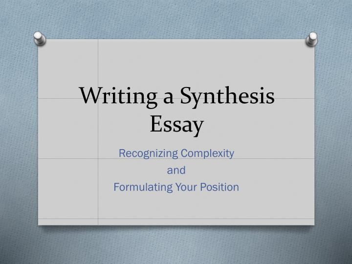writing a synthesis essay n.