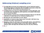 addressing hindcast sampling error