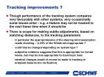 tracking improvements