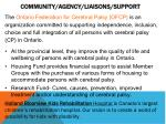 community agency liaisons support