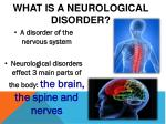 what is a neurological disorder