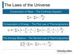 the laws of the universe