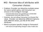 43 remove idea of attributes with consumer choices