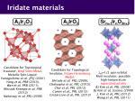iridate materials