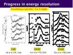 progress in energy resolution