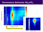 resonance behavior na 2 iro 3