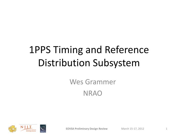 1pps timing and reference distribution subsystem n.