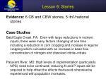 lesson 6 stories