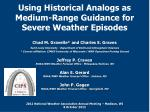 using historical analogs as medium range guidance for severe weather episodes