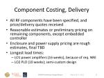 component costing delivery