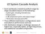 lo system cascade analysis
