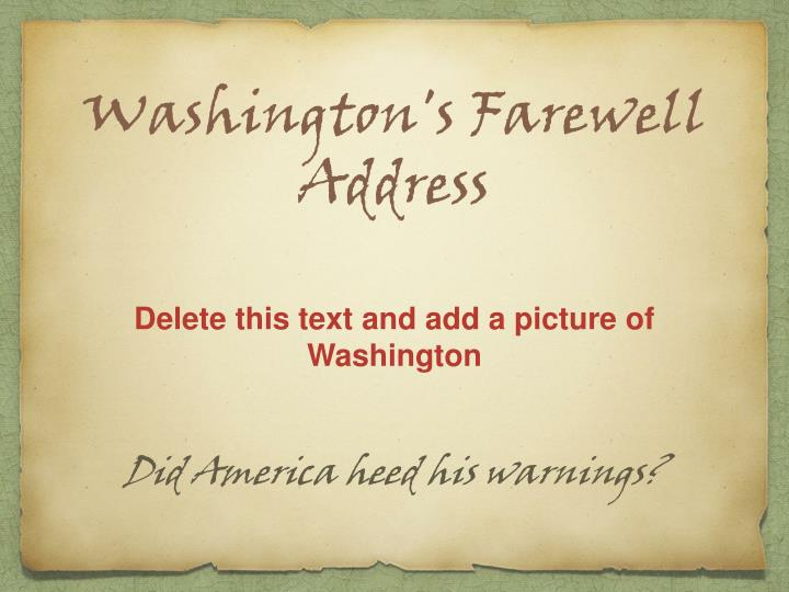 washington s farewell address n.