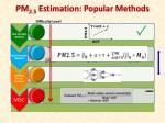 pm 2 5 estimation popular methods