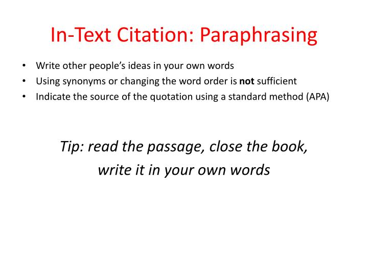 in text citation direct quote