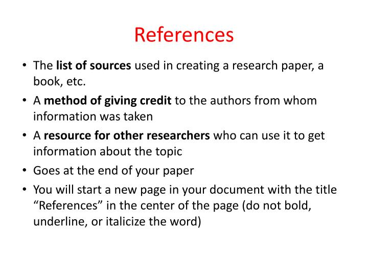 giving credit in a research paper