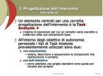 3 progettazione dell intervento task analysis