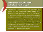 esempio di presentazione dell intervista vineland
