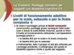 la vineland punteggi normativi dei soggetti con disabilit cognitiva 5 5