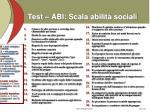 test abi scala abilit sociali