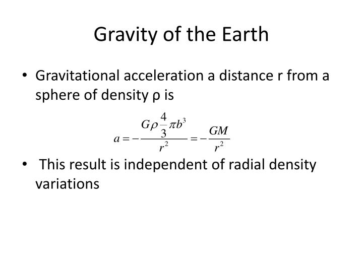gravity of the earth n.