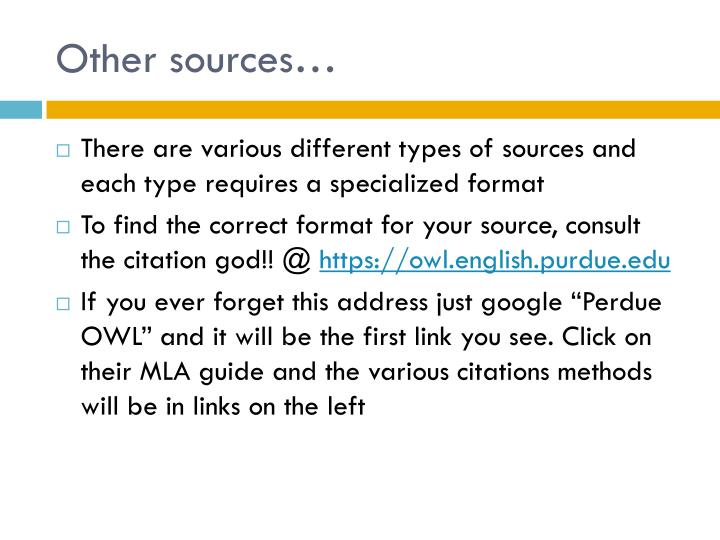 Other sources…