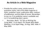an article in a web magazine