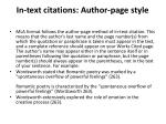 in text citations author page style