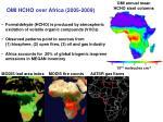 omi hcho over africa 2005 2009